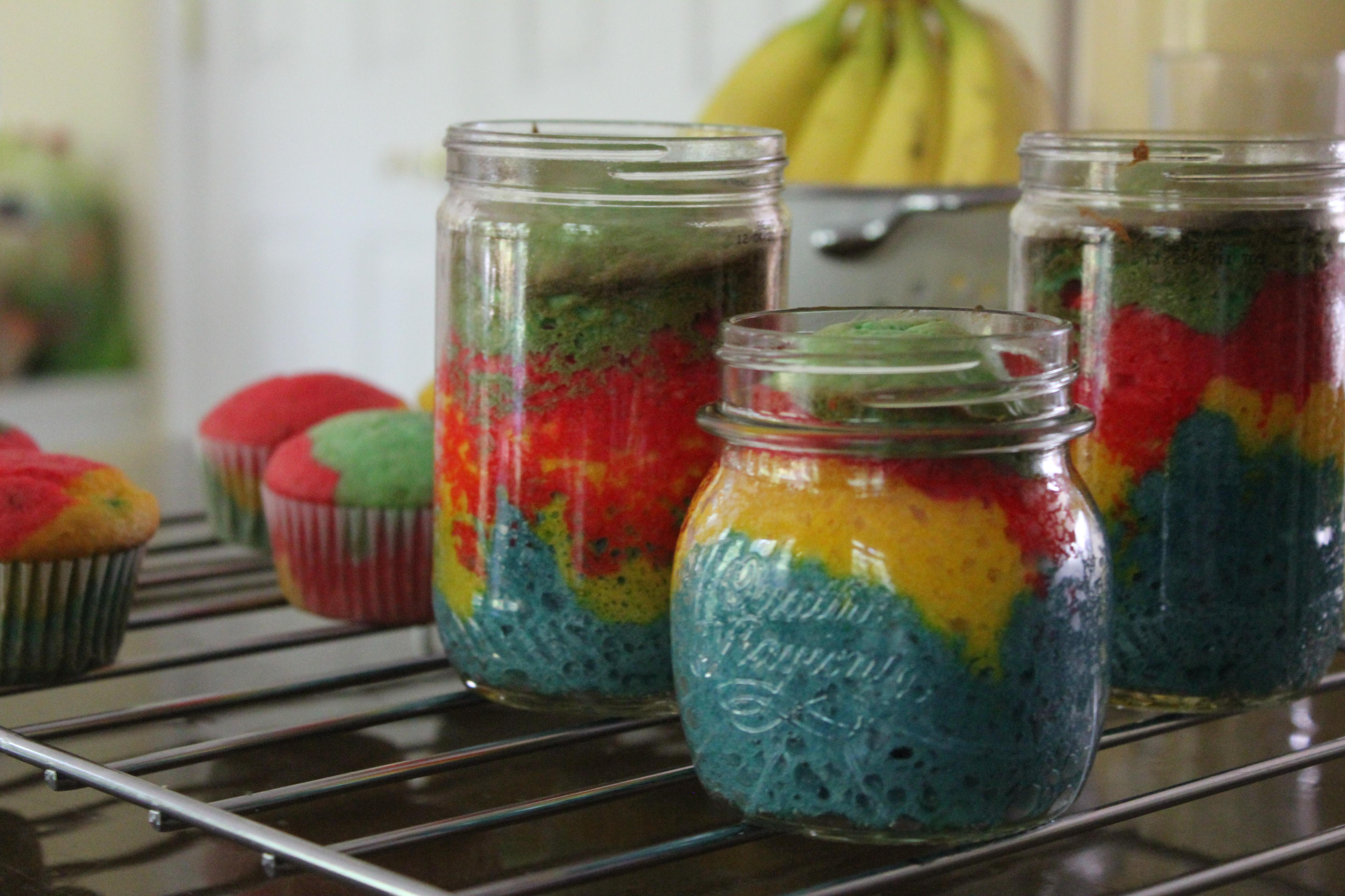 Resep Cake In Jar Rainbow: RESEP RAINBOW CAKE KUKUS NY LIEM