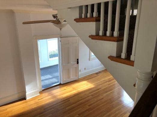 Bedrooms upstairs, Living room downstairs